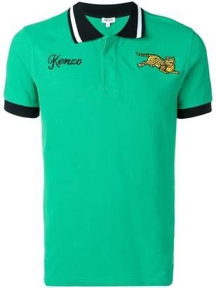 Kenzo flying tiger embroidered polo shirt