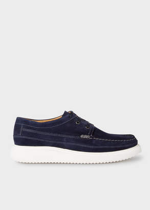 Paul Smith Men's Dark Navy Suede 'Seneca' Moccasins