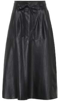 Polo Ralph Lauren Leather midi skirt