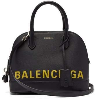 Balenciaga Ville S Leather Bag - Womens - Navy Multi