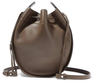 The Row Textured-leather Shoulder Bag - Army green
