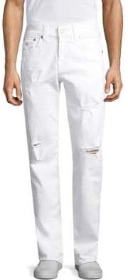 True Religion Ricky W Flap Straight Fit Jeans