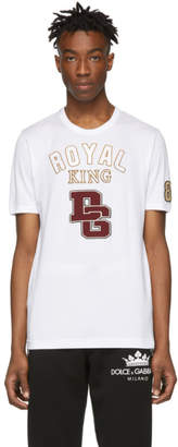 Dolce & Gabbana White Royal King T-Shirt