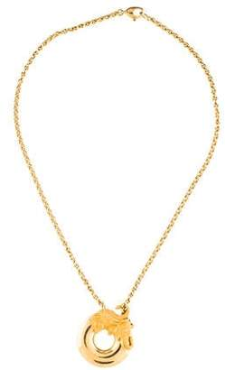 Carrera y Diamond Elephant Pendant Necklace