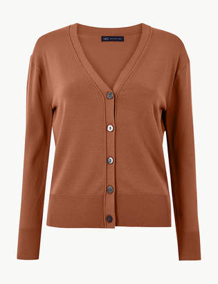 M&S CollectionMarks and Spencer V-Neck Button Detailed Cardigan