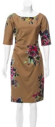 Lela Rose Floral Print Sheath Dress