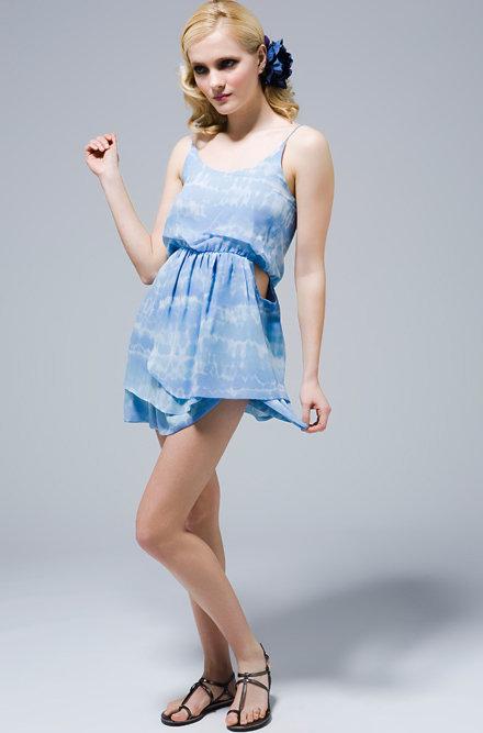 Er Fetherston Sky Georgette Dress