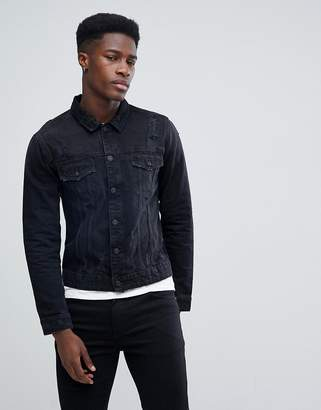 ONLY & SONS Denim Jacket With Distressing