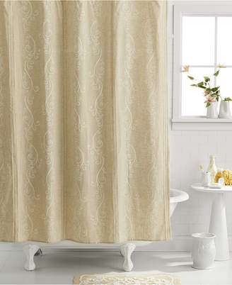Lenox Bardwil Bath Accessories, French Perle Shower Curtain Bedding
