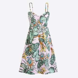 J.Crew Factory Printed poplin cami dress