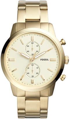 Fossil Men's Chronograph Townsman Gold-Tone Stainless Steel Bracelet Watch 44mm