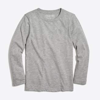 J.Crew Factory Boys' long-sleeve jersey pocket T-shirt
