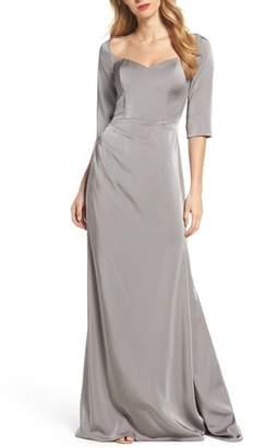 La Femme Sweetheart Satin Gown