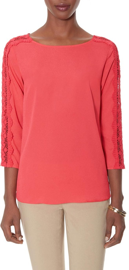The Limited Lace Sleeve Blouse