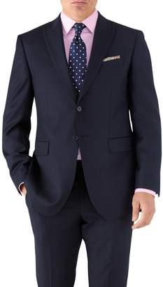 Charles Tyrwhitt Navy Classic Fit Peak Lapel Twill Business Suit Wool Jacket Size 40