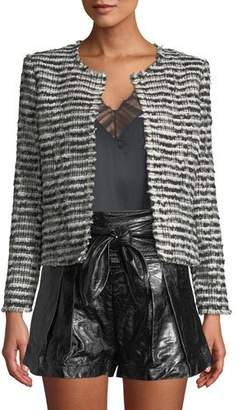 IRO Emotion Open-Front Tweed Cropped Jacket