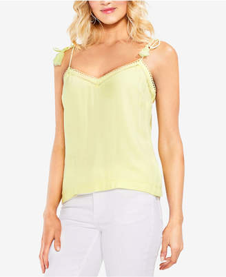 Vince Camuto (ヴィンス カムート) - Vince Camuto Tie-Strap Eyelet-Detail Camisole