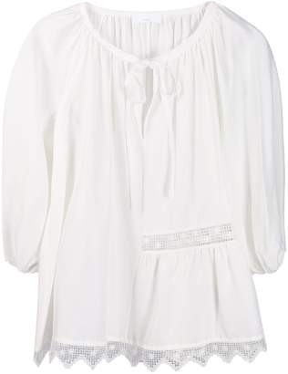 P.A.R.O.S.H. lace embroidered blouse