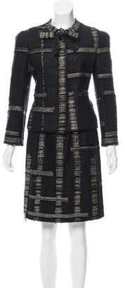 Chanel Metallic Tweed Skirt Suit