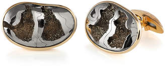 Fossil Jorge Adeler Pyritized Ammonite 18k Gold Cufflinks