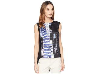 Kenneth Cole New York High-Low Sleeveless Blouse
