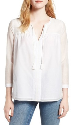Women's Vineyard Vines Embroidered Woven Top $118 thestylecure.com
