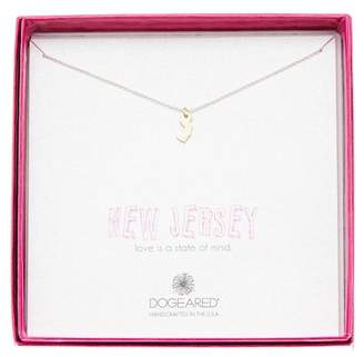 Dogeared Sterling Silver State Of Mind New Jersey Pendant Necklace