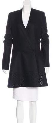 Balenciaga Virgin Wool Laser Cut Coat