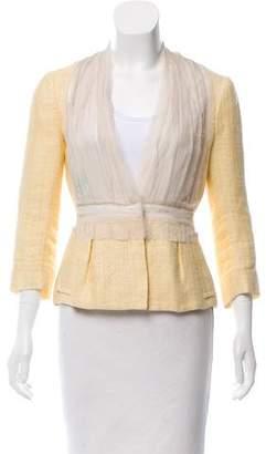 Alberta Ferretti Silk-Accented Linen Jacket