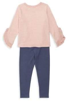 Splendid Baby Girl's Bell-Sleeve Sweater & Leggings Set