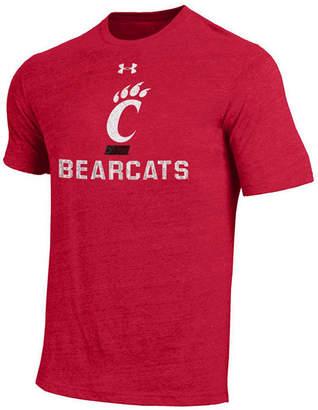 Under Armour Men Cincinnati Bearcats Heat Gear Tri-Blend T-Shirt