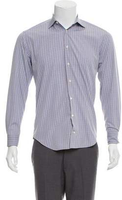 Barneys New York Barney's New York French Cuff Trim Fit Shirt