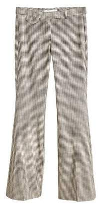 MANGO Gingham suit trousers