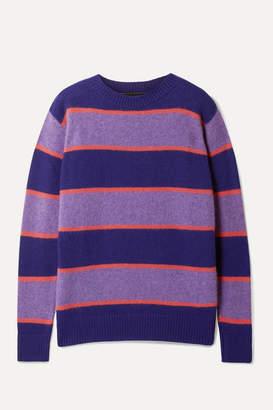 The Elder Statesman Super Striped Cashmere Sweater - Purple