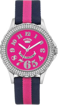 Juicy Couture Navy Blue & Hot Pink Strap Watch