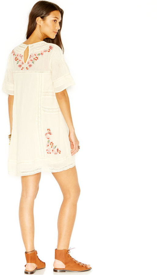 Free People Perfectly Victorian Embroidered Shift Dress 2