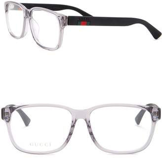Gucci 56mm Square Optical Frames