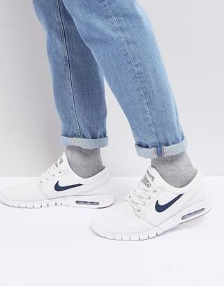 Nike Sb SB Stefan Janoski Max Sneakers In White 631303-103