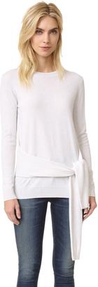 Autumn Cashmere Tie Front Sweater $319 thestylecure.com