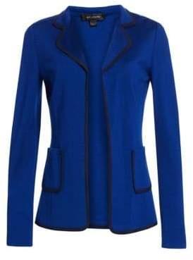 St. John Women's Milano Stretch Wool Jacket - Blue Navy - Size 6