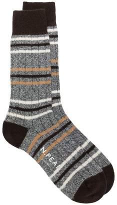 N.Peal striped long socks