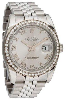 Rolex Datejust Watch $9,995 thestylecure.com