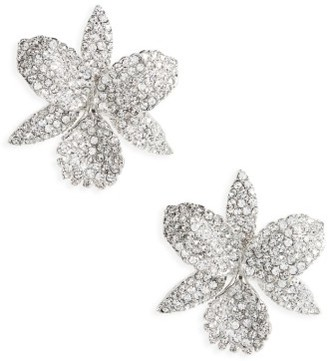 Women's Nina Large Orchid Stud Earrings $125 thestylecure.com