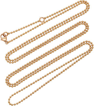 Diane Kordas 18K Rose Gold 44cm Ball Chain