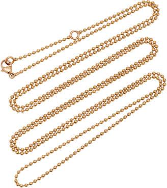 Diane Kordas 18K Rose Gold 44cm Ball Chain