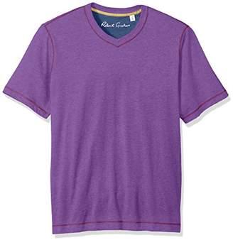 Robert Graham Men's Short Sleeve Classic Fit Jersey Tee Shirt