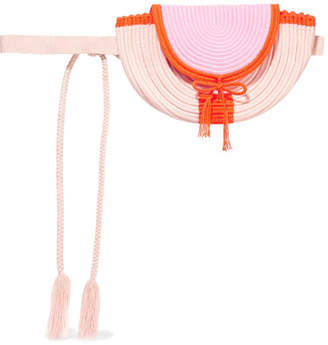 Cara Sophie Anderson Woven Belt Bag - Blush