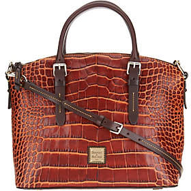 Dooney & Bourke Croco Leather Domed Satchel