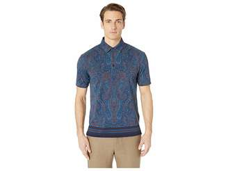 Etro All Over Paisley Polo