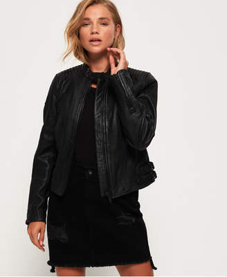 Superdry Thea Leather Racer Jacket